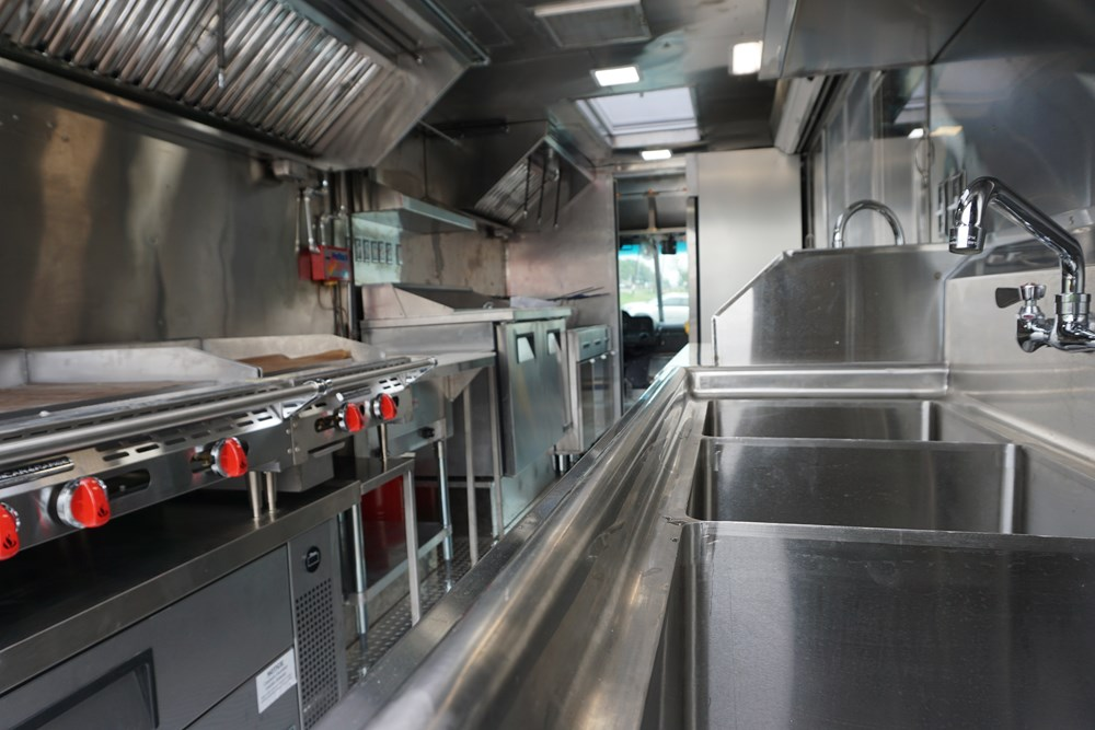 Sizzles HTX Foods Truck Interior